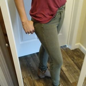 AE army green jeggings